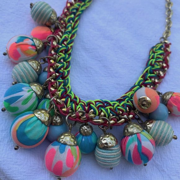 Lilly Pulitzer bright bauble fun necklace printed
